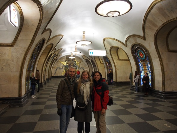 Yuriy, Anja et Irina dans le métro